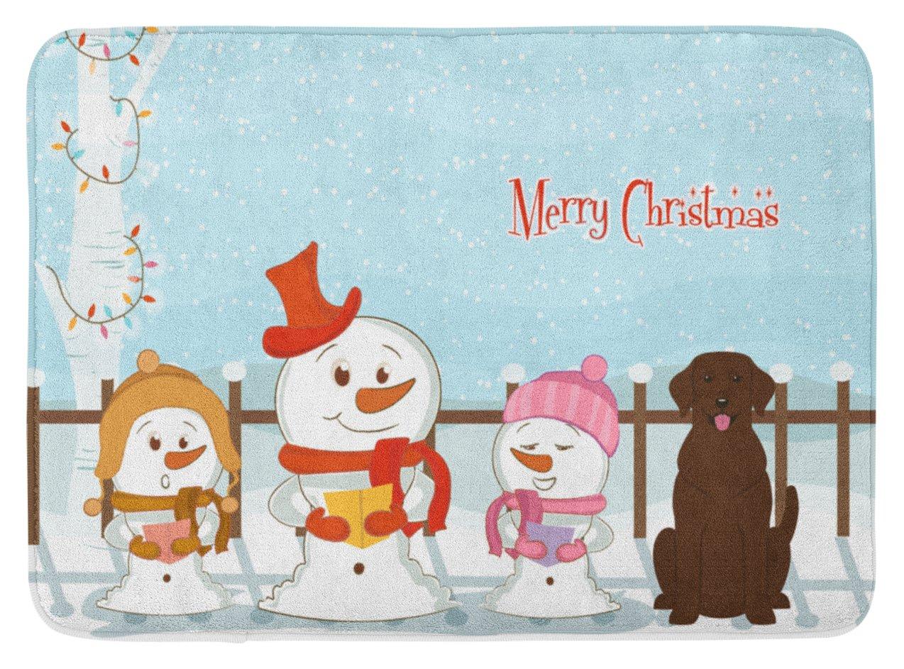 Carolines Treasures Christmas Carolers Chocolate Labrador Floor Mat 19 x 27 Multicolor