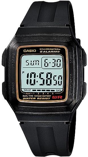 Casio F-201W-9AUDF (D030) D030 (D030) - Reloj para Hombres, Correa de Resina