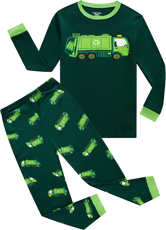 Family Feeling Little Boys Girls Pajamas Sets 100% Cotton Pjs