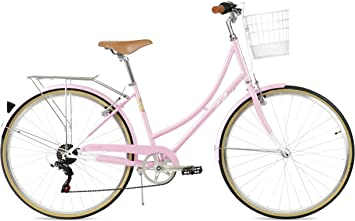 FabricBike Step City (Candy Pink + Cesta): Amazon.es: Deportes y aire libre