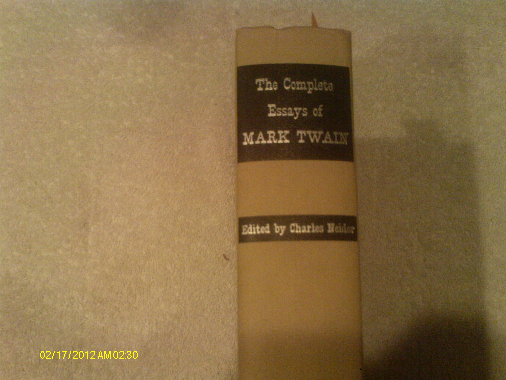 the complete essays of mark twain ed by charles neider mark the complete essays of mark twain ed by charles neider mark neider charles ed twain mark twain com books