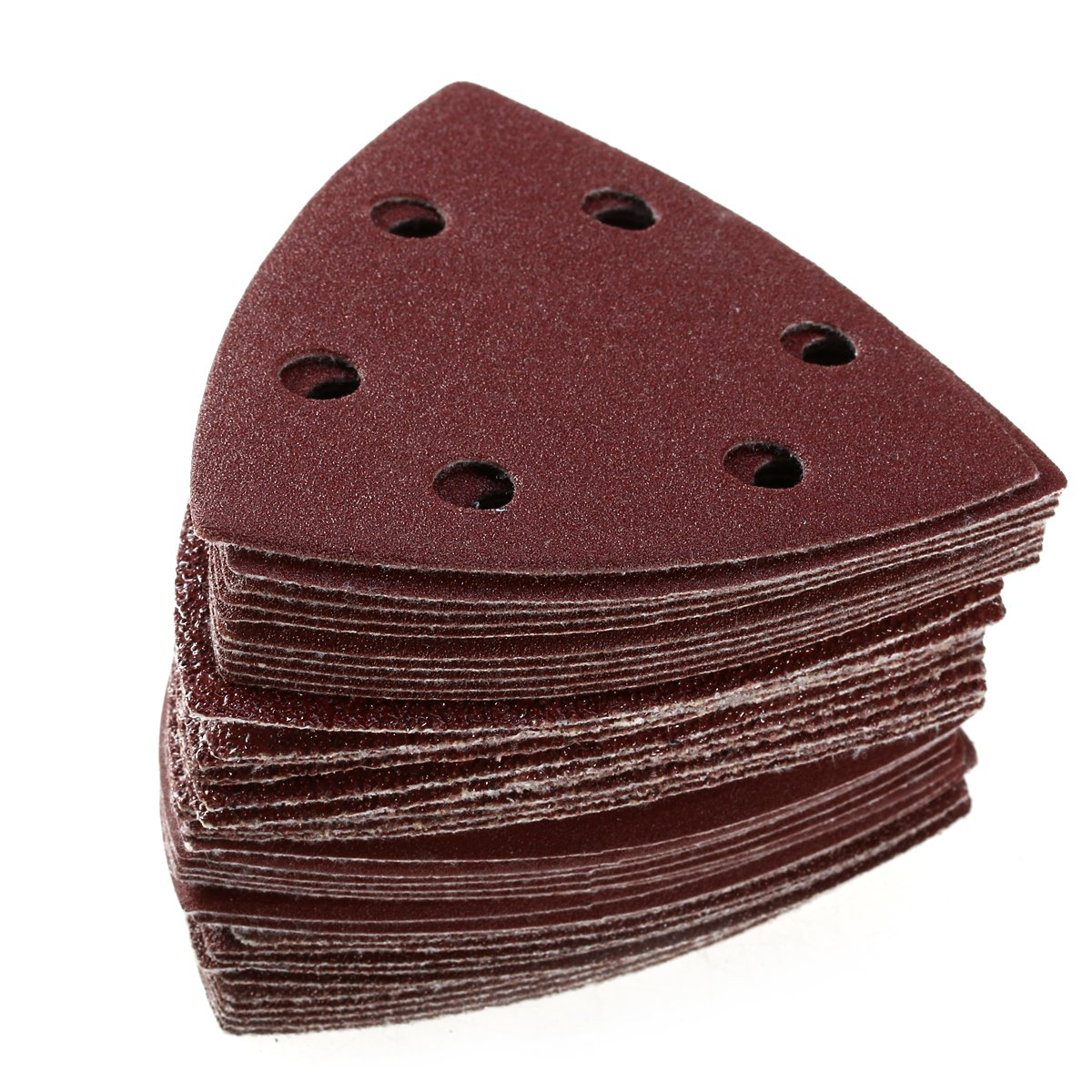 Pack of 60 in total UEETEK 90mm Triangle Sanding Discs Sandpaper 6 Hole 40//60//80//120//180//240 Grit each of 10 pcs