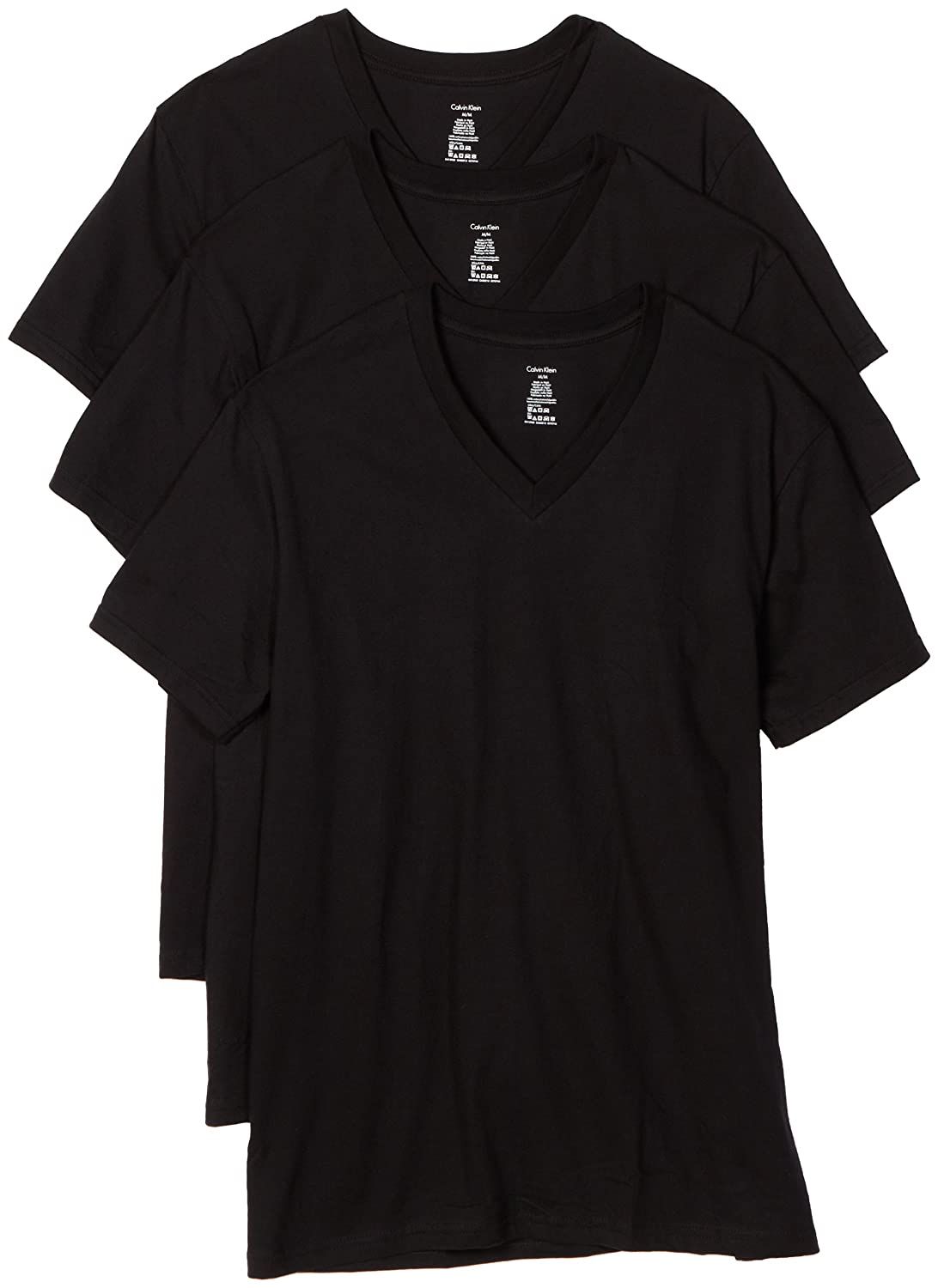 e8f37cc7 Amazon.com: Calvin Klein Men's 3-Pack Classic V-Neck T-Shirt: Clothing