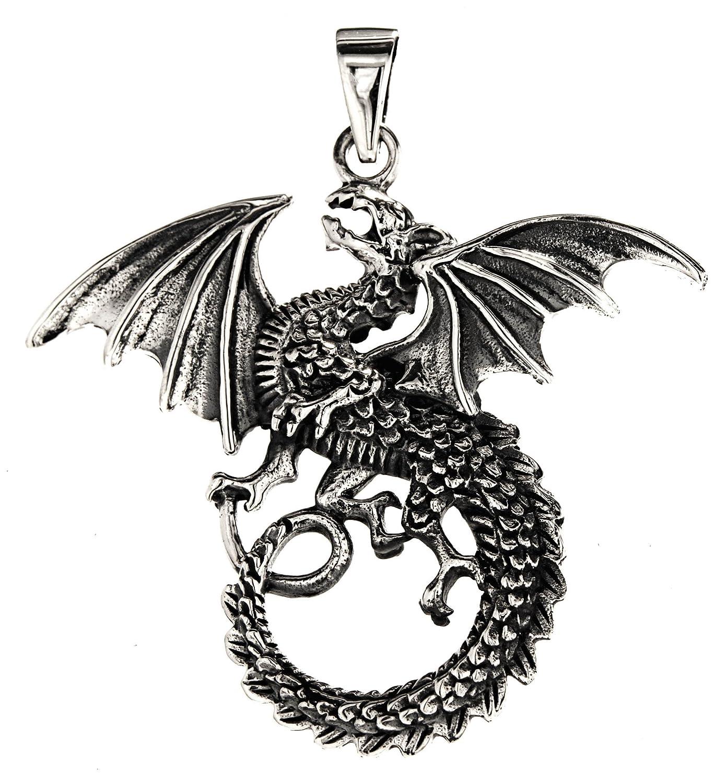 Grand Dragon Pendentif en argent sterling 925/N /° 236