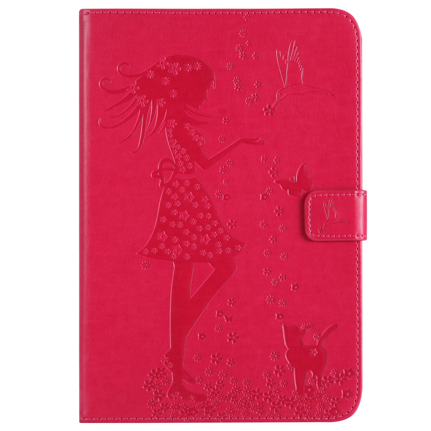 Bear Village Case for Samsung Galaxy Tab a 8.0 Inch, Premium Full Body Protective Cover, Slim Leather Smart Magnetic Case with Multiangle Viewing Stand, Red by Bear Village