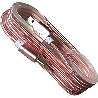 爱维杰龙 USB Type C数据线 华为P9 乐视小米4C数据线 尼龙编织金属2A充电线 玫瑰金