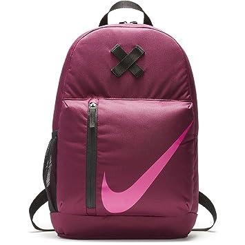 Nike NK elmntl BKPK, Mochila niño, niño, Nk Elmntl Bkpk, Bordeaux/Black/Active Pink, Talla Unica: Amazon.es: Deportes y aire libre