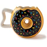 Mug donut en céramique Big Mouth Toys, noir