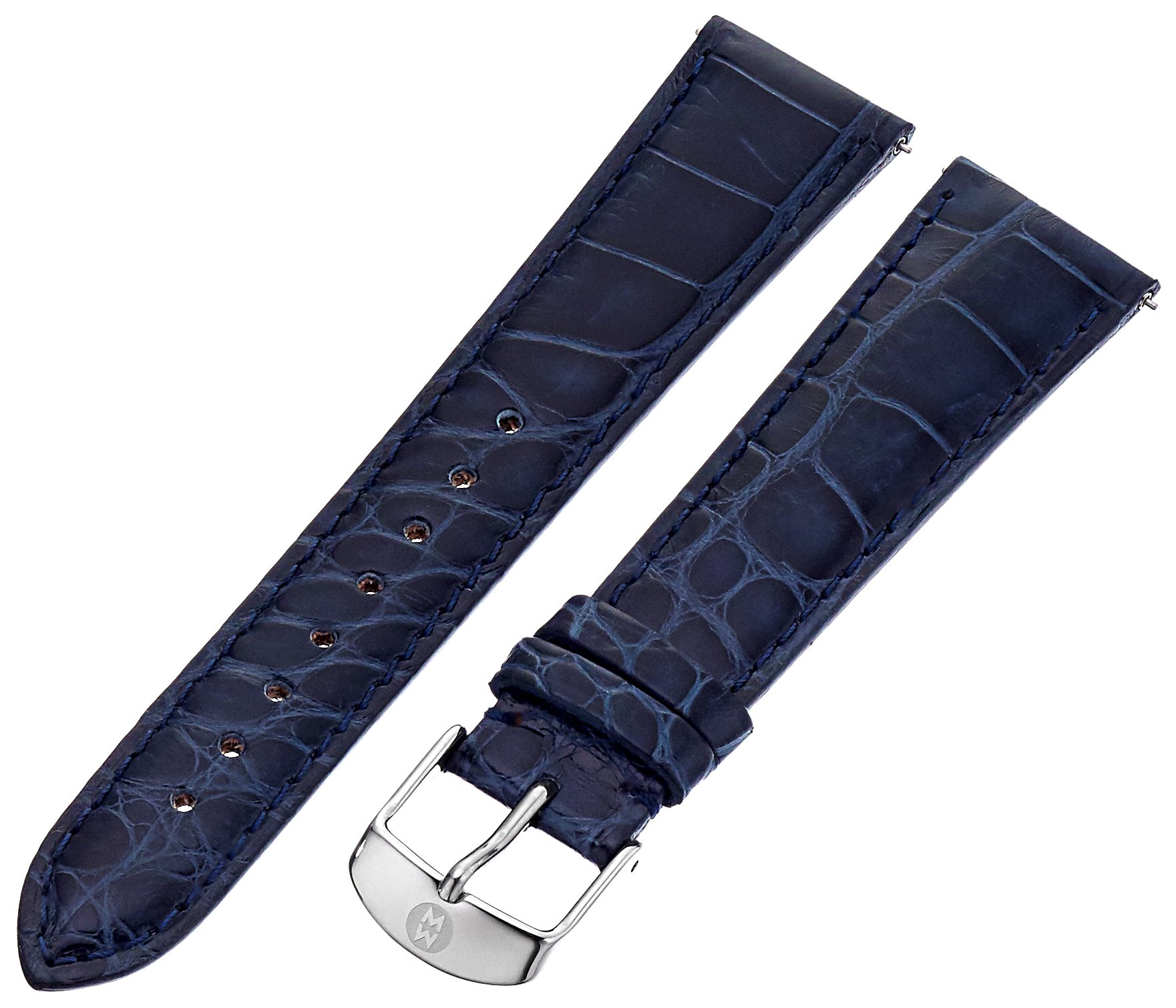 MICHELE MS20AB010400 20mm Leather Alligator Blue Watch Strap