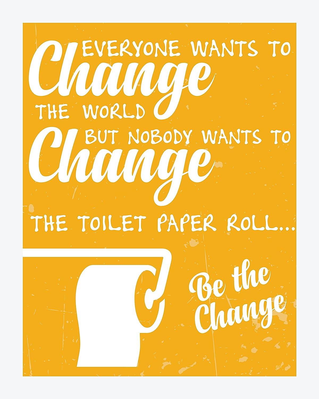 Amazon.com: Bathroom Decor & Funny Quotes | Set of Four Durable High ...