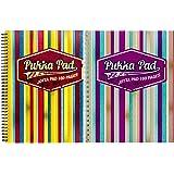 Pukka Pad Jotta Pad Cahier à spirale Motif Americano ligné avec marge A4 80 g/m² 160 pages