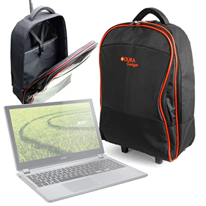 d37c238a416e DURAGADGET Lightweight Laptop Trolley Bag With Heavy: Amazon.co.uk ...