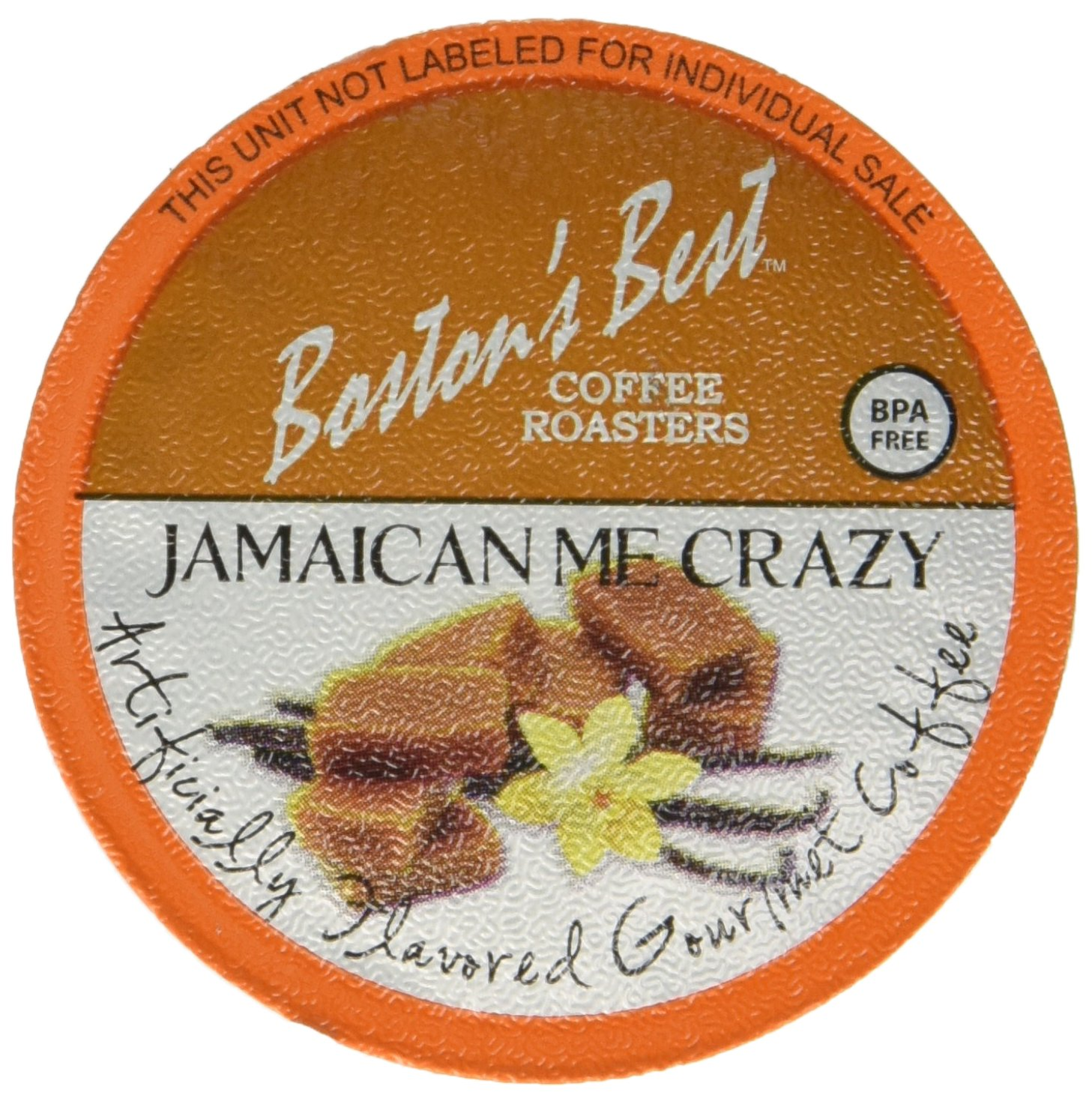 Bostons Best Single Serve K-Cup Coffee, Jamaican Me Crazy, 80 Count