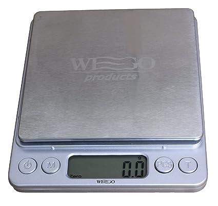 WEGO Balanza de cocina Digital, escala digital, escala carta con una precisión de 0