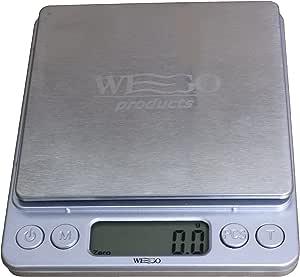 WEGO Balanza de cocina Digital, escala digital, escala carta con una precisión de 0,1 gramos, peso máximo es de 3 kg, que contiene varias unidades: / ml g/lb/oz - función de tara.