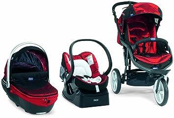 Chicco 4079501720000 Travelsystem Trio S3 - Carrito convertible (3 posiciones), color rojo: Amazon.es: Bebé