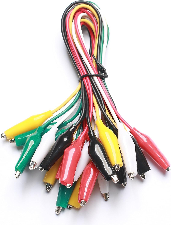 BTSKY 5 Color Identified Automotive Back Probe Lead Set 5 Pcs 4mm Banana Plug to Alligator Clip Extension Lead 500V 5A 20 Pcs 15 Pcs 3 Configurations 30V Back Probe Pin