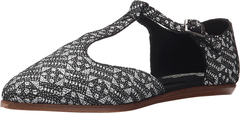 d945e7b4d Amazon.com | TOMS Jutti T- Strap Black White Tiles Suede Printed | Pumps