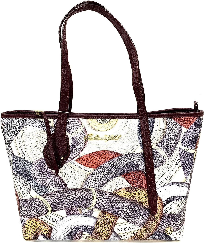 guillermo mariotto Shopper Donna VIPERA multi Bordeaux: Amazon.it: Scarpe e  borse