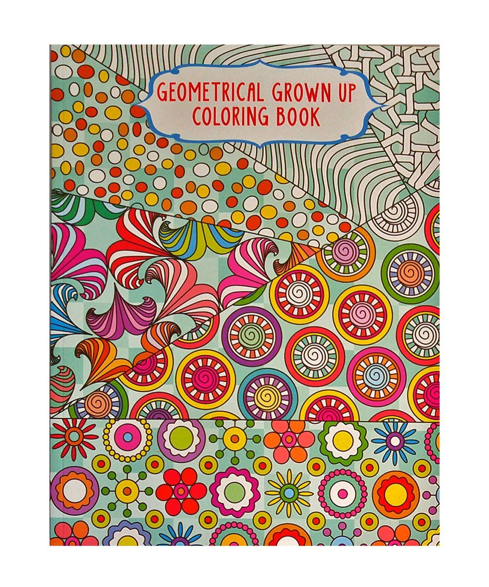 Coloring book grown up - Amazon Com Set Of 4 Vision St Adult Coloring Books Geometrical Grown Up 32 Page Coloring Books You Get 4 Different Books Toys Games