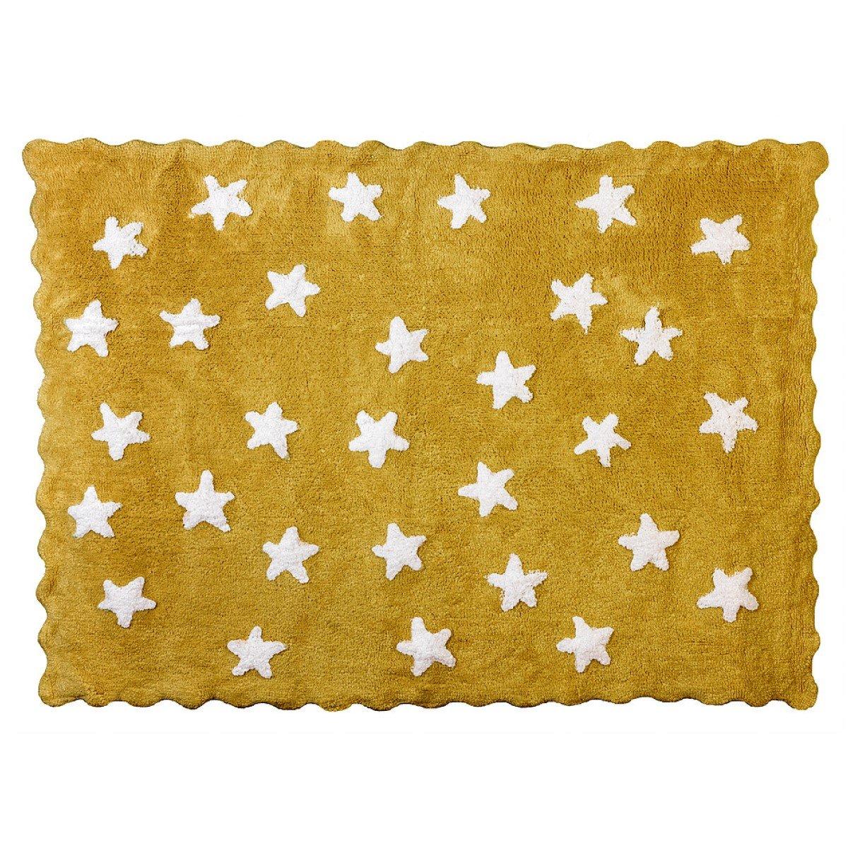 Lilipouce Alfombra infantil algodón estrellas Eden, tela, Rose, 120x160 cm