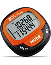 3DActive 3D Pedometer PDA-100| Best Pedometer for Walking with 30-Days Memory. Accurate Step Counter, Calorie Counter, Distance Miles/Km & Daily Target Monitor.