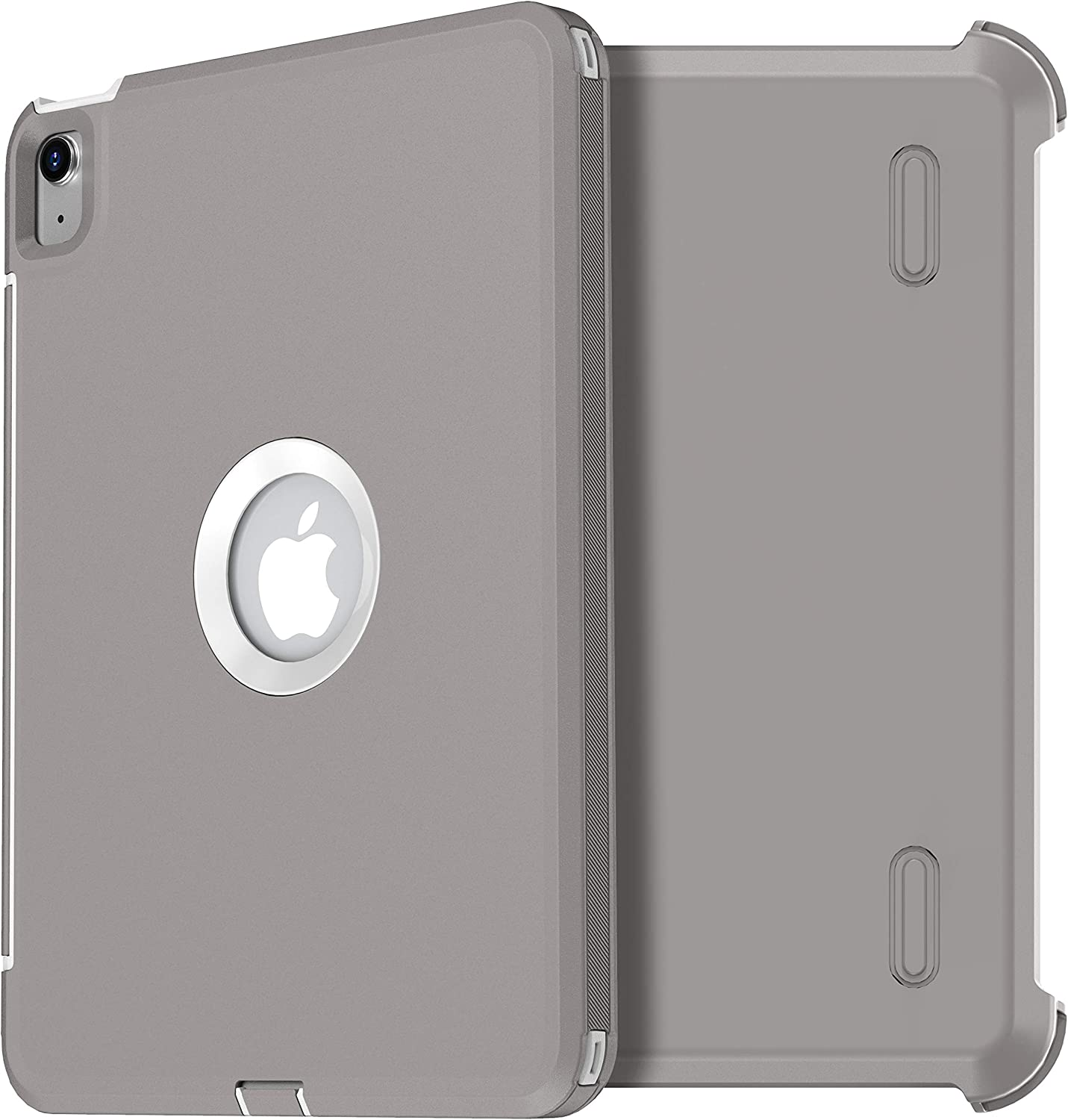 AICase for iPad Air 4 Case 2020,New iPad Air 10.9 Cases Heavy Duty Rugged Shockproof Triple Layer Defense for iPad Air 4th Generation 2020 (Gray+White)