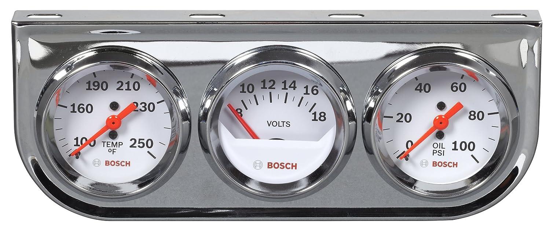 White Dial Face, Chrome Bezel Bosch SP0F000020 Sport II 3-3//8 Tachometer