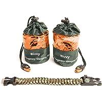 2 Bivy Sack Emergency Sleeping Bags Compact and Lightweight.Use as Survival Sleeping Bag Mylar Survival Blanket. Water…