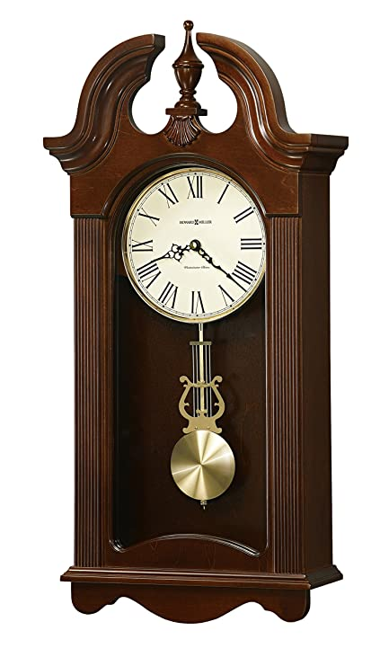 Good Howard Miller Malia Wall Clock With Westminster Chime, Cherry Finish,  Quartz Movement