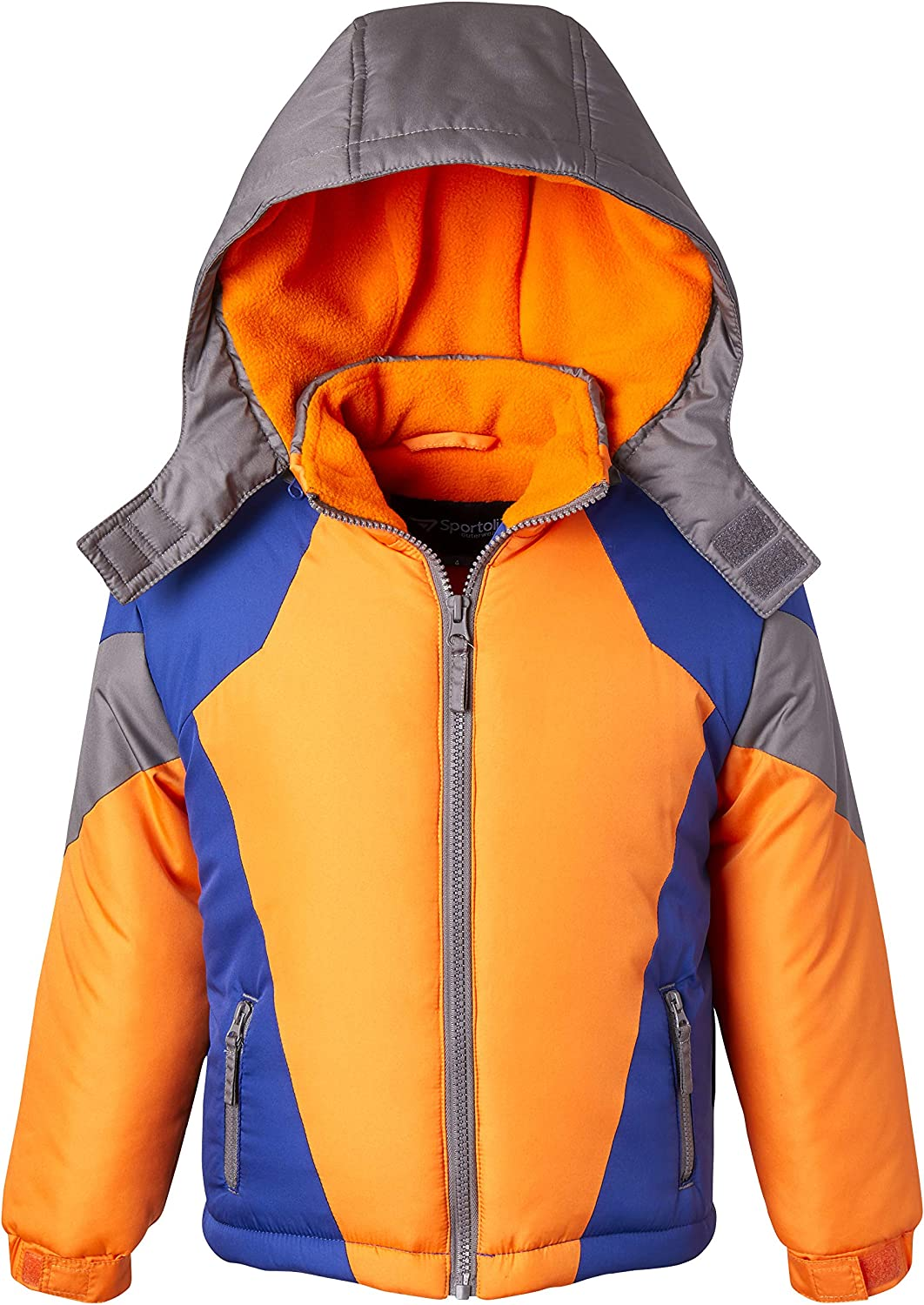 Coats for Boys Fleece Superior Lined Hooded Winter Long-awaited Colorblock Snowboard P