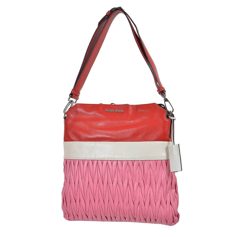 Amazon.com  Miu Miu Women s Multi-Color Leather Shoulder Bag Handbag   Clothing 36cc0aed46