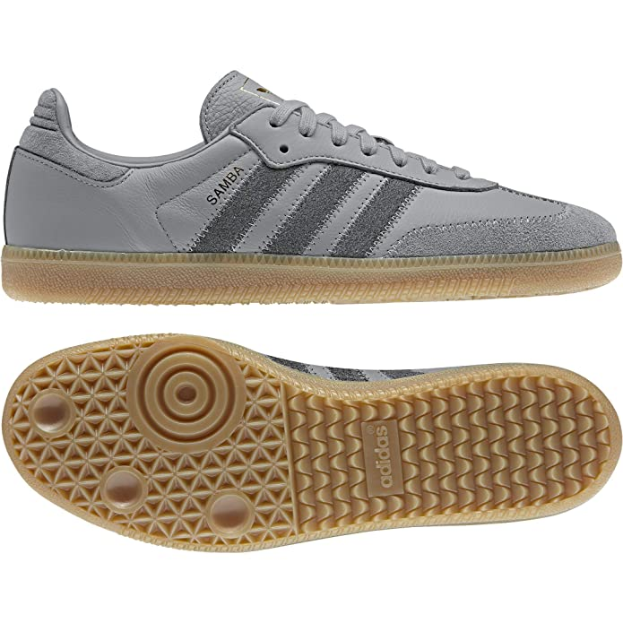 adidas Samba oG Schuhe grau mit grauen Streifen