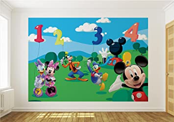 Wallpaper Mural MICKEY MOUSE Fleece Photo Wallpaper Kids Wall Murals  (4 029VE) ( Part 80
