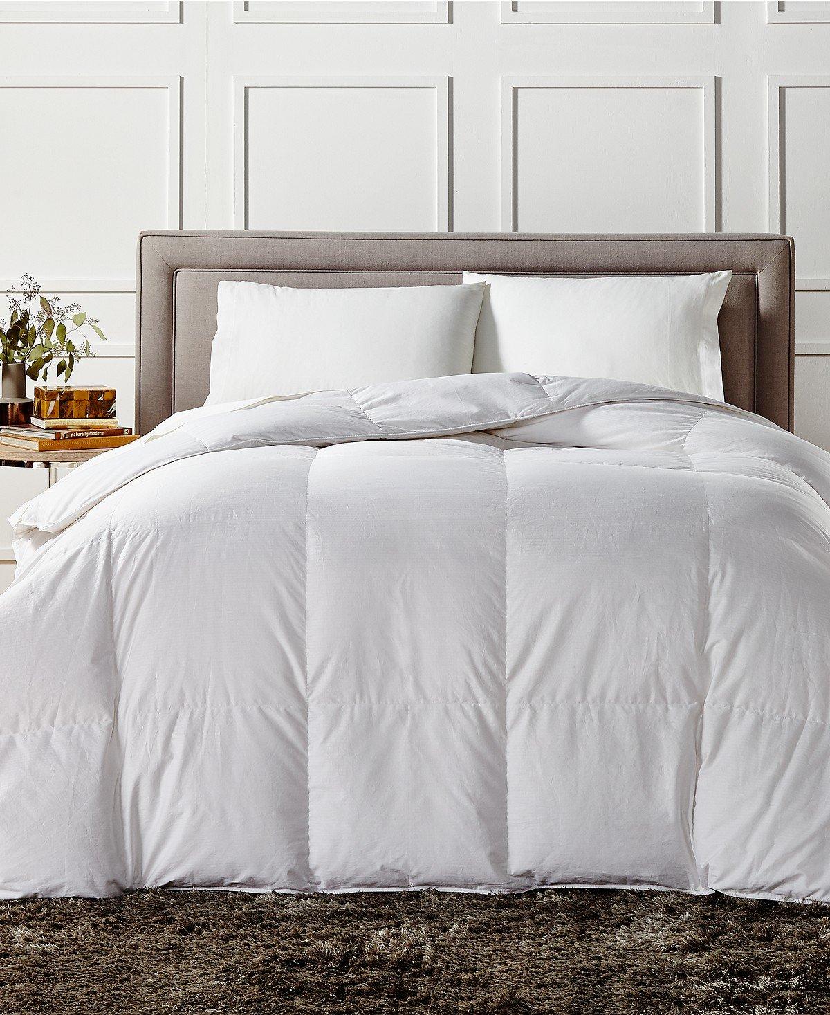 Charter Club European White Down Medium Weight Full Queen Comforter - Hypoallergenic, UltraClean