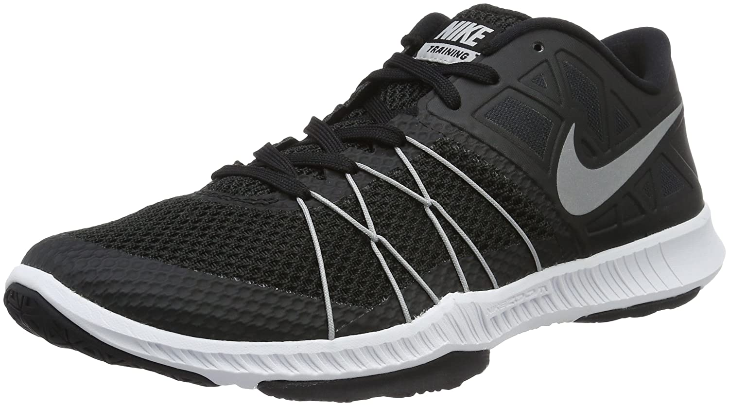 44c0a8c96885c Nike Men s Black Metallic Silver Zoom Train Incredibly Fast Cross Trainer -  Uk 7  Buy Online at Low Prices in India - Amazon.in