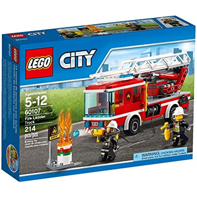 LEGO City Fire Ladder Truck 60107: Toys & Games
