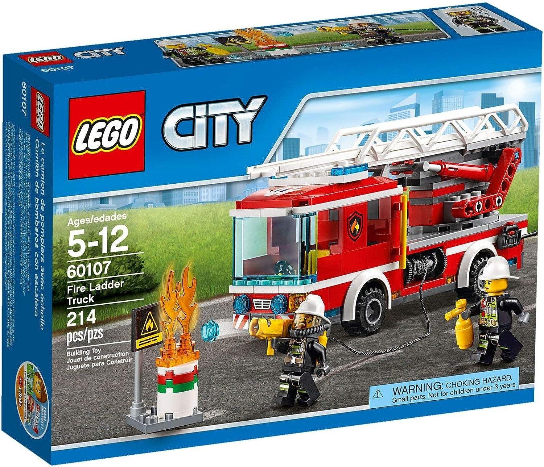 LEGO CITY Fire Ladder Truck 60107 by LEGO: Amazon.es: Juguetes y juegos
