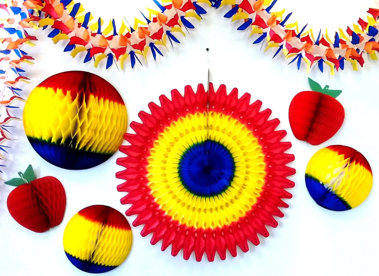 Back to School Honeycomb Decoration Collection (7 Pieces)