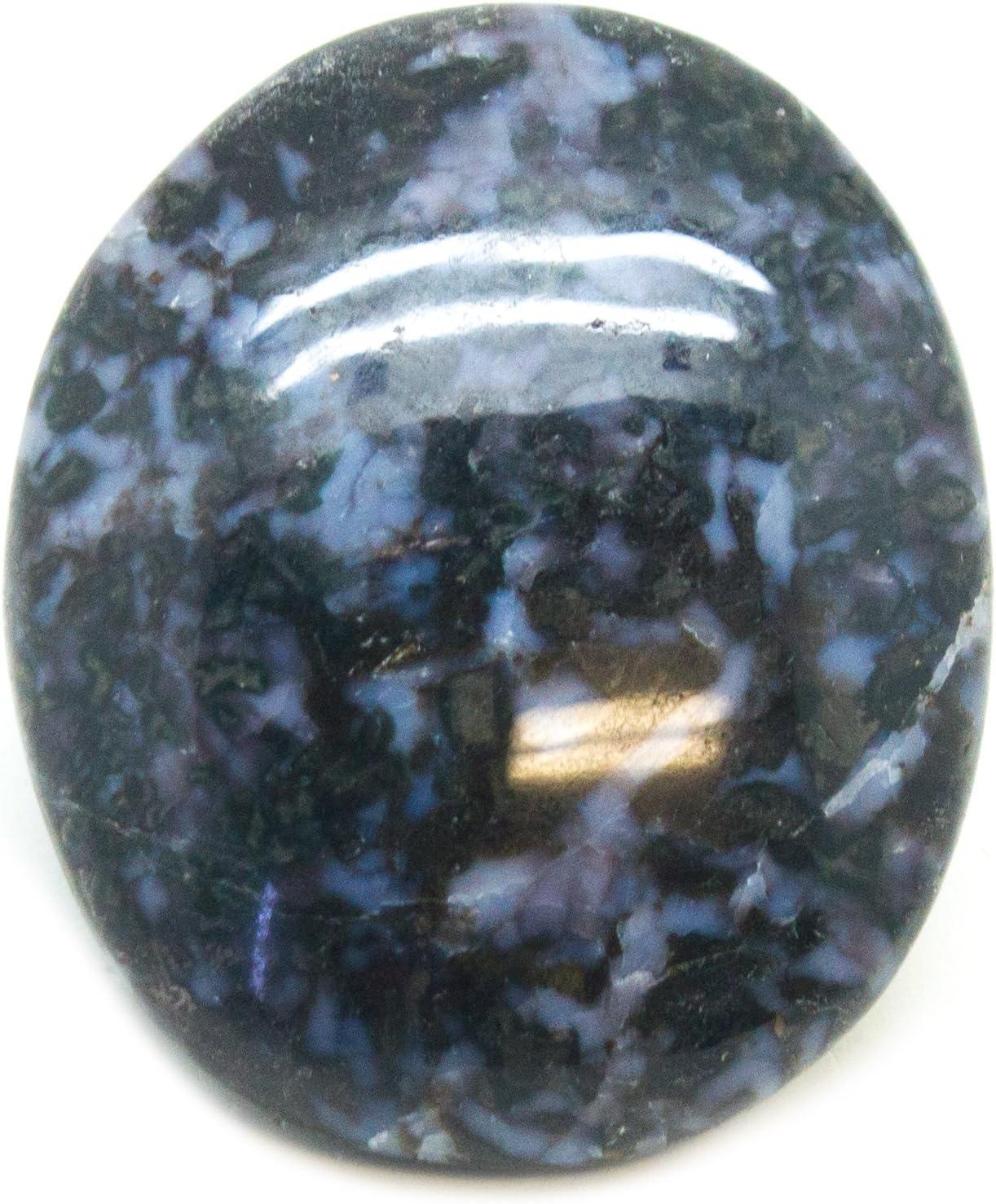 2.6 inch 67mm Large Indigo Gabbro Palm Stone TP01-07 Indigo Gabbro Tumbled Stone