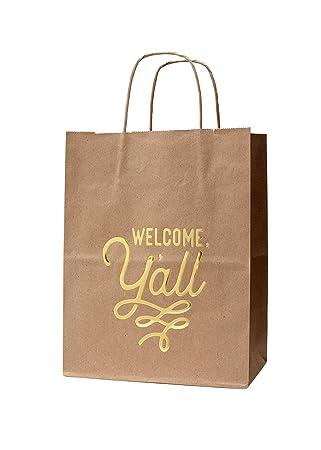 Amazon.com: 6 bolsas de regalo de bienvenida con bienvenida ...