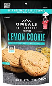 OMEALS Lemon Cookies Dessert Snack MRE Sustainable Fully Baked -Premium Outdoor Food Extended Shelf Life- Gluten Free - Vegan - Perfect for Camping Enthusiasts, Travelers, Emergency Supplies-USA Made