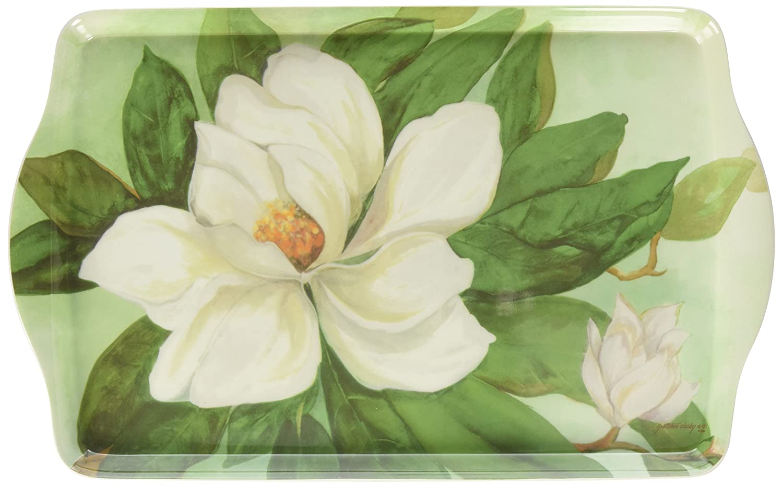 Amazoncom 15 Southern Magnolia Handled Melamine Serving Tray