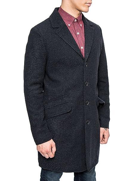 7392538a07 Only & Sons – Cappotto in lana da uomo, stile classico, colore: Blu ...