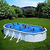 Gre KIT500ECO - Piscina ovalada Fidji 500x300x120 cm + depuradora de arena