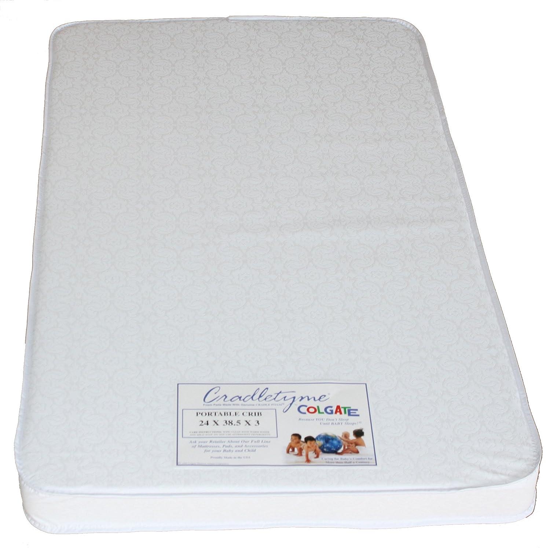 colgate portable crib mattress 24 w x 38 5 l and