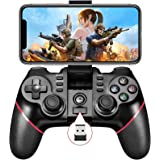 Vbepos Mobile Game Controller 2.4G Wireless Gamepad Bluetooth Gaming Joystick Compatible for iPhone iOS/Android Phone/PC…