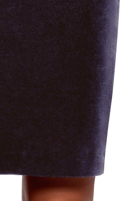 oodji Ultra Mujer Falda Recta de Terciopelo