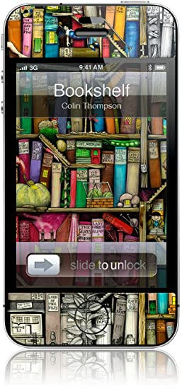 GelaSkins Protective Skin For The IPhone 4 QuotBookshelfquot With Access To Matching Digital