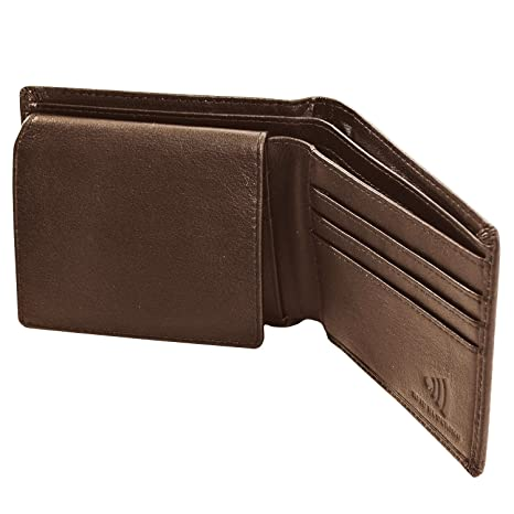 Premium Leather Wallet for Men in Gift Box - Bifold Design with RFID Protection - Ideal Gift for Men - Black or Brown at Amazon Mens Clothing store: